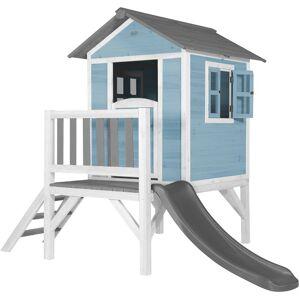 AXI Maison Enfant Beach Lodge XL en Bleu avec Toboggan en Gris   Maison de