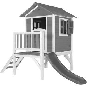 AXI Maison Enfant Beach Lodge XL en Gris avec Toboggan en Gris   Maison de