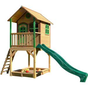 AXI Sarah Playhouse: Maisonnette pour enfants, fenêtres intégrées et bois