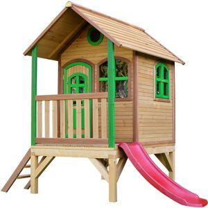 AXI Tom Playhouse: Maisonnette pour enfants, fenêtres intégrées et bois