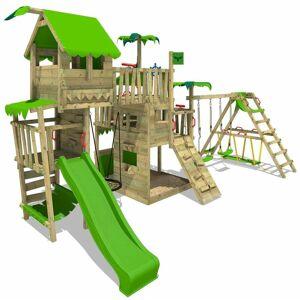 FATMOOSE Aire de jeux Portique bois PacificPearl avec balançoire