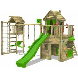 FATMOOSE Aire de jeux Portique bois CrazyCat avec balançoire TowerSwing