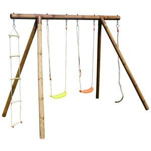 SOULET Portique en bois avec corde et échelle 4 agrès - Ernest