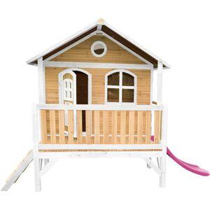 AXI Stef Maison Enfant avec Toboggan rose   Aire de Jeux pour