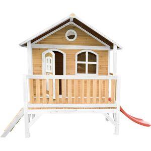AXI Stef Maison Enfant avec Toboggan rouge   Aire de Jeux pour