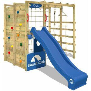 WICKEY Aire de jeux Portique bois Smart Allstar avec toboggan bleu