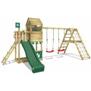 WICKEY Aire de jeux Portique bois Smart Port avec balançoire et