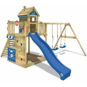 WICKEY Aire de jeux Portique bois Smart Lodge 150 avec balançoire et