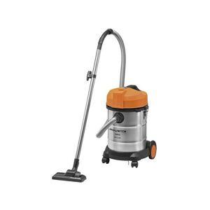 ROWENTA Aspirateur Multi-fonction bac 17kg 30L Inox Orange poussière eau gravât
