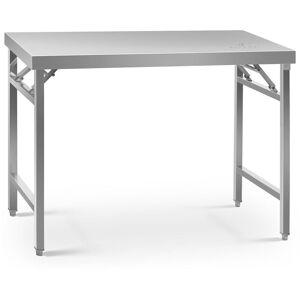 ROYAL CATERING Table de travail pliable Capacité de 215 kg, Surface de 70x120cm Inox