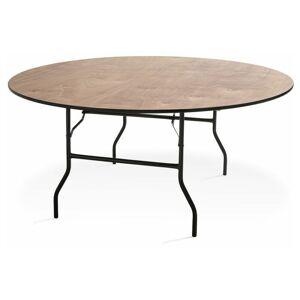 MOBEVENTPRO Table pliante ronde en bois 10 places 170cm buffet traiteur - 170cm x