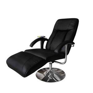 vidaXL Fauteuil de massage Noir Similicuir