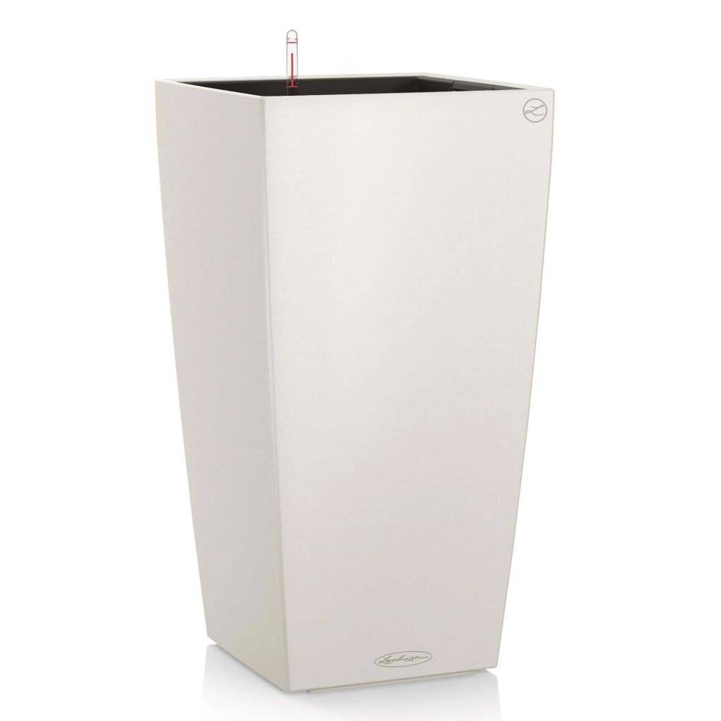 LECHUZA Jardinière Cubico Color 30 ALL-IN-ONE Blanc 13130