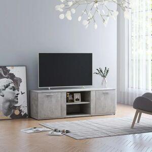 vidaXL Meuble TV Gris béton 120x34x37 cm Aggloméré