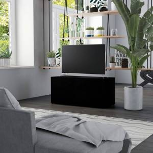 vidaXL Meuble TV Noir 80x34x36 cm Aggloméré