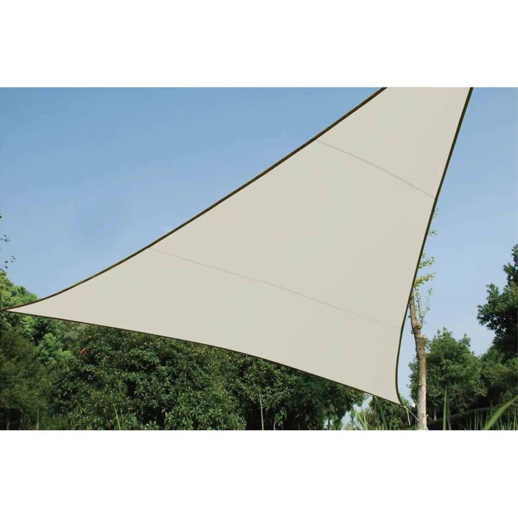 Perel Voile d'ombrage triangulaire 3,6 m Couleur crème GSS3360