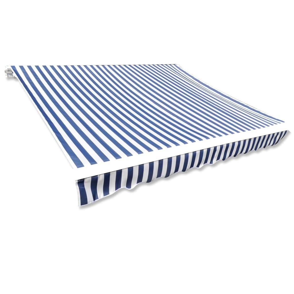 vidaXL Toit d'auvent Toile Bleu et blanc 6x3 m (Cadre non inclus)