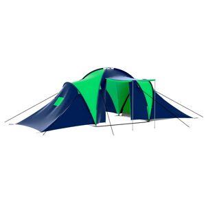 vidaXL Tente de camping 9 personnes Bleu et Vert
