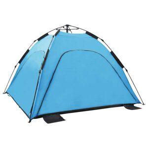 vidaXL Tente de plage escamotable 220x220x160 cm Bleu
