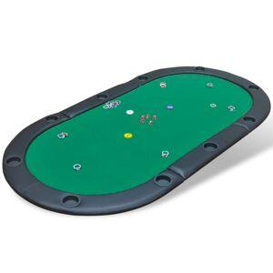 vidaXL Dessus de table de poker pliable pour 10 joueurs Vert