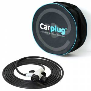 CARPLUG Câble de recharge - Type 2 - Type 2 - 10m - 7,4kW (1 phases 32A) - T2 T2 + Housse