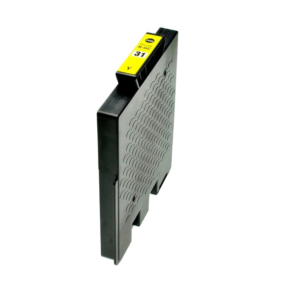 Ricoh Consommables et accessoires d'imprimantes pour Ricoh 405691 / GC-31 Y jaune compatible (de marque ASC)