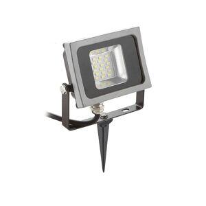 V-TAC Pack projecteur LED SMD corp noir design plat 10W équi 50W IP65 Blanc neutre extérieur+ Support à piquer Noir V-TAC