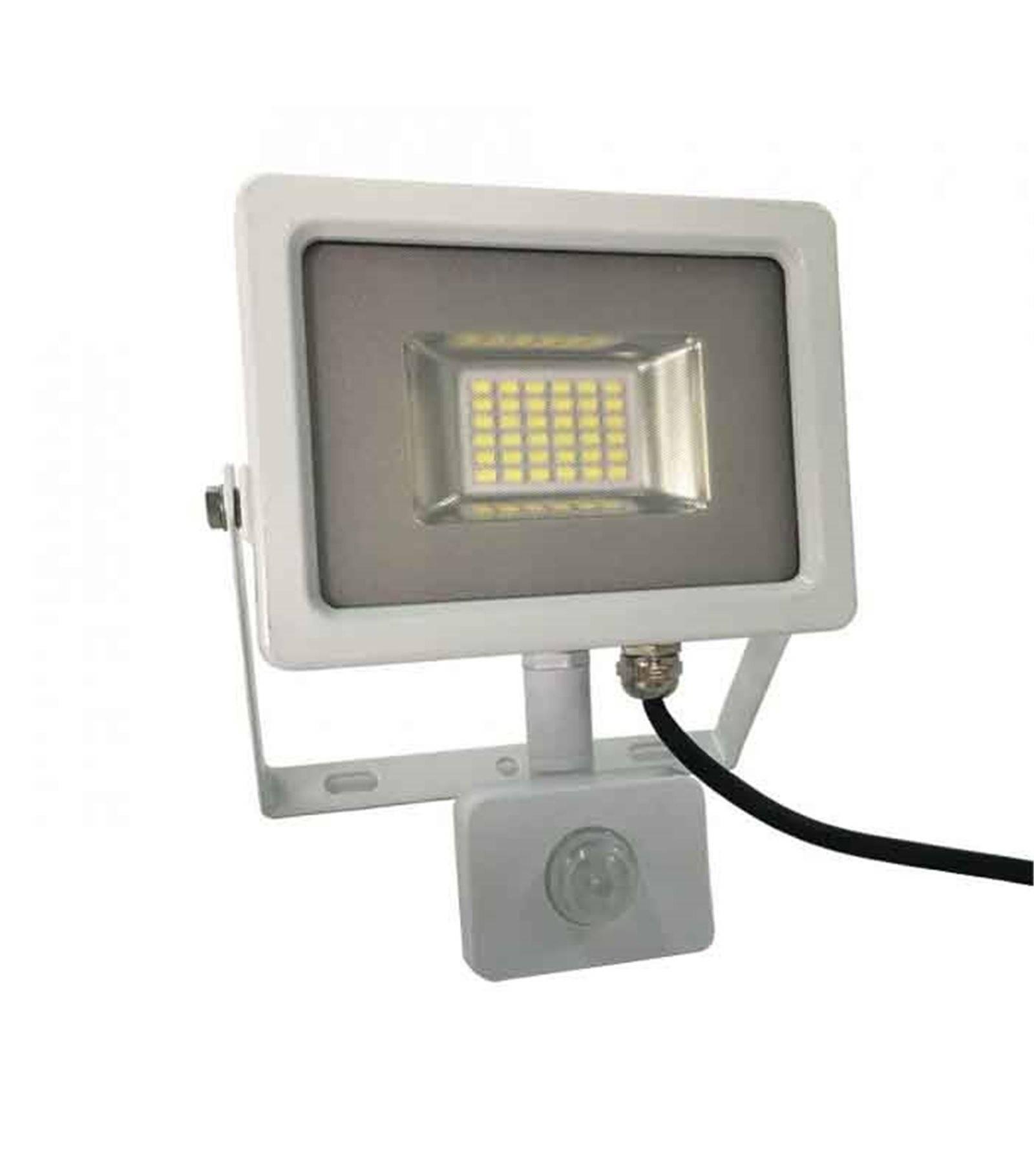 V-TAC Projecteur blanc avec détecteur de mouvement 20W équiv 100W LED SMD intégrées IP65 Blanc Froid extérieur V-TAC - 5750