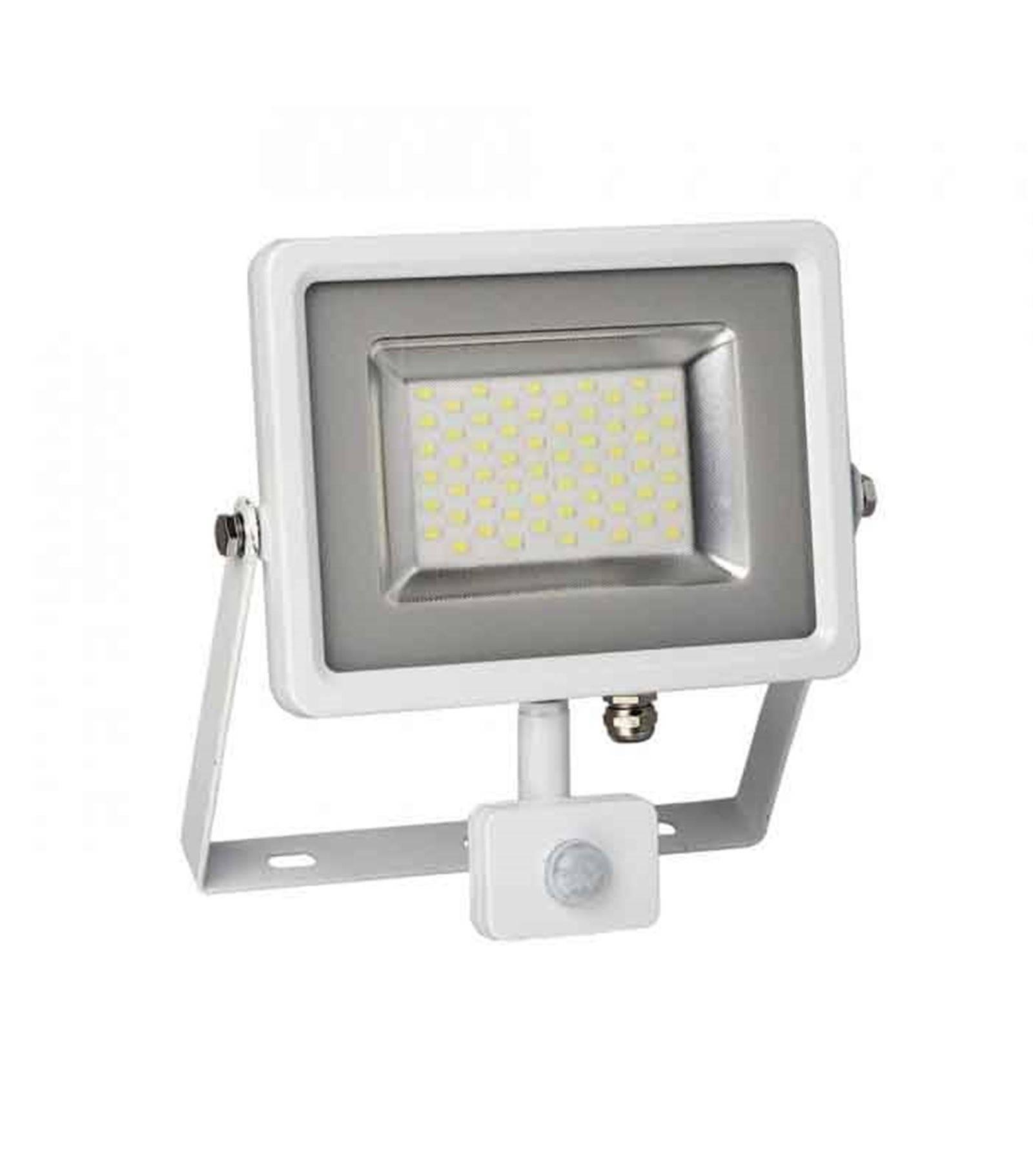 V-TAC Projecteur blanc avec détecteur de mouvement 30W équiv 150W LED SMD intégrées IP65 Blanc neutre extérieur V-TAC - 5751