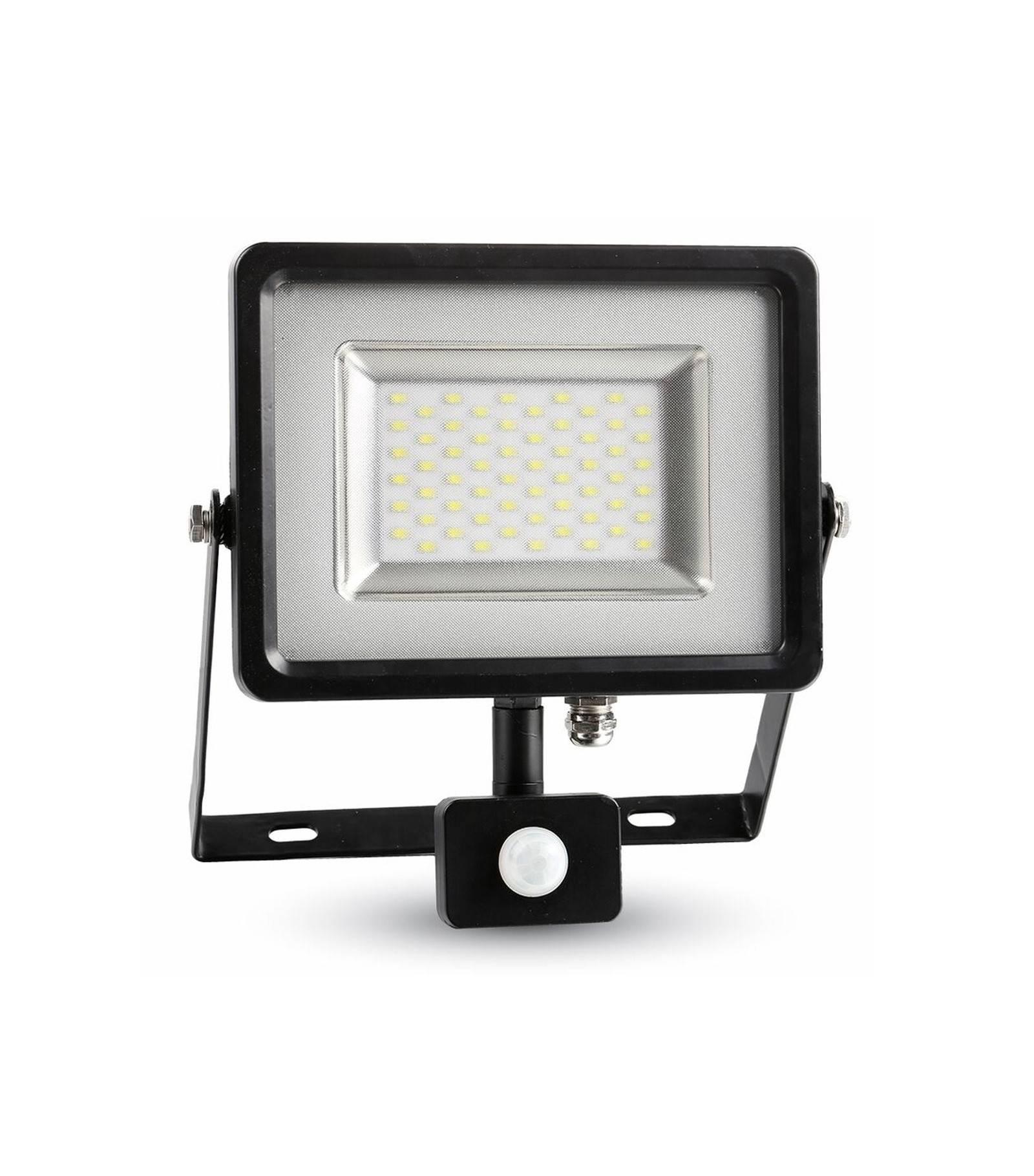 V-TAC Projecteur LED SMD Floodlight avec capteur 30W 2400LM IP44 3000K Blanc Chaud V-TAC - 5699