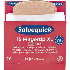 Réapprovisionnement pour SALVEQUICK 6 lots de pansements pour bouts de doigts, 15 pièces par lot