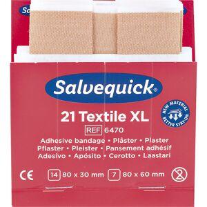 Réapprovisionnement pour SALVEQUICK 6 lots d'emplâtres élastiques, 21 pièces par lot