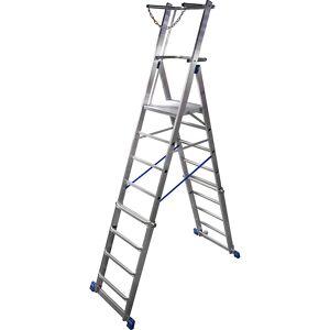 KRAUSE Plate-forme mobile télescopique hauteur réglable par système ClickMatic   KRAUSE