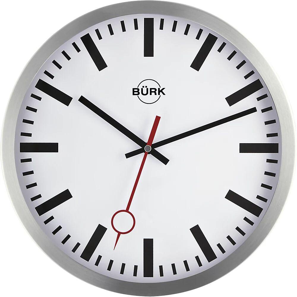 Horloge murale en aluminium poli horloge radio-pilotée