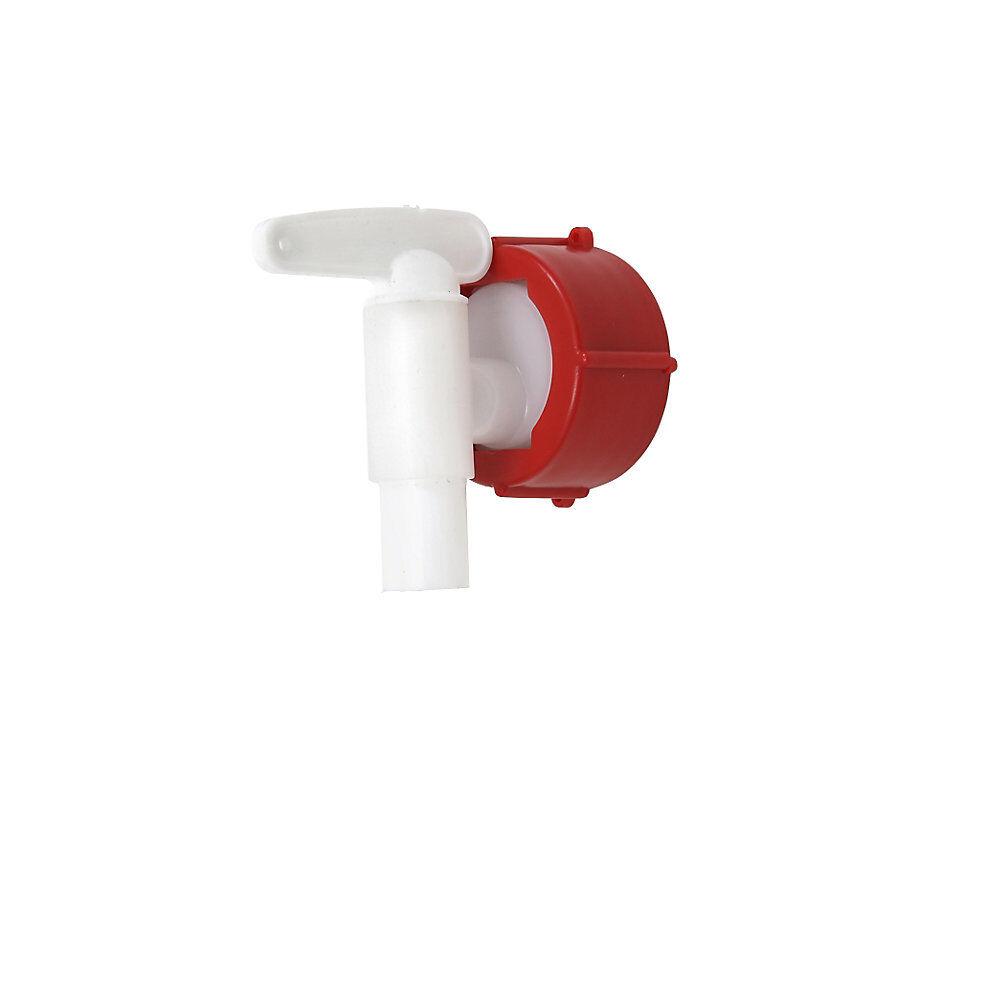 Robinet de vidange pour fût rond 3/4'', avec manchon de raccordement