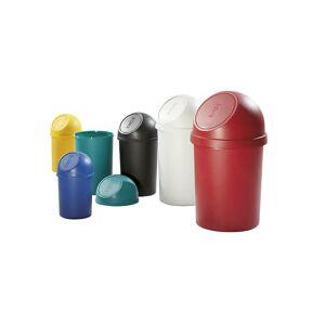 helit Poubelle à trappe en plastique capacité 13 l, h x Ø 490 x 252 mm   helit