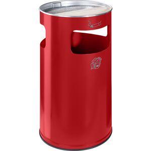 VAR Combiné cendrier-poubelle capacité 69 l, h x Ø 760 x 420 mm, tôle d'acier   VAR