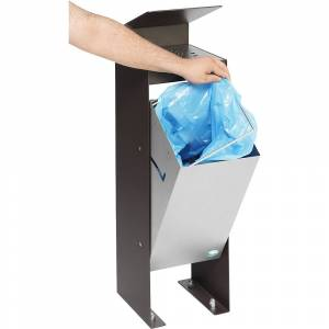 VAR Combiné cendrier-poubelle avec recouvrement en tôle perforée avec toit   VAR
