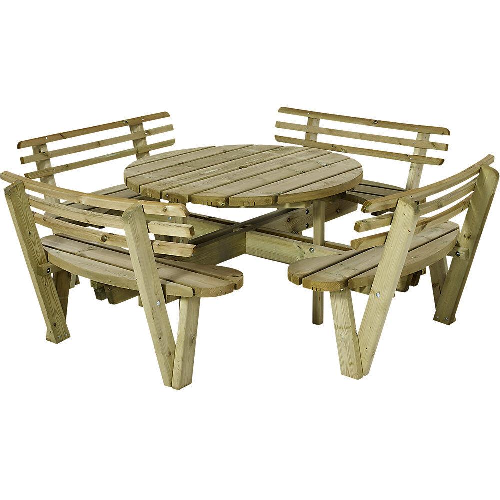Ensemble bancs et table L x p 2370 x 2370 mm