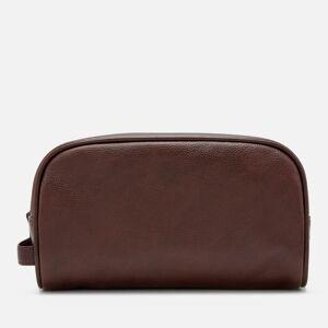 Barbour Men's Leather Wash Bag - Dark Brown