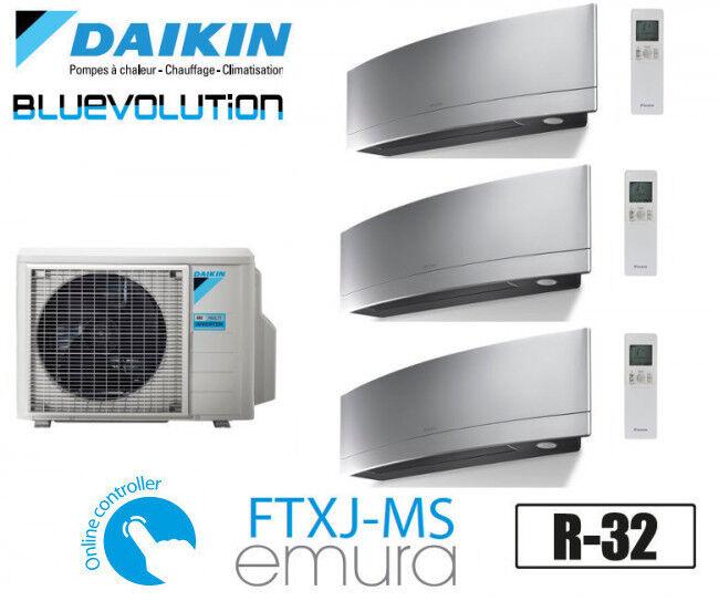 Daikin Emura Trisplit 3MXM68N + 2 FTXJ20MS + 1 FTXJ25MS - R32