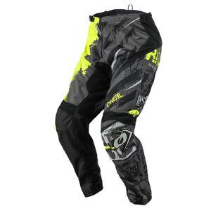 Oneal Pantalon cross Oneal Element Ride noir jaune fluo 38 US = 46 FR