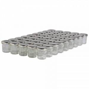 Lubéron Apiculture 45 pots verre facettes 50g (44 ml) avec couvercle TO 48