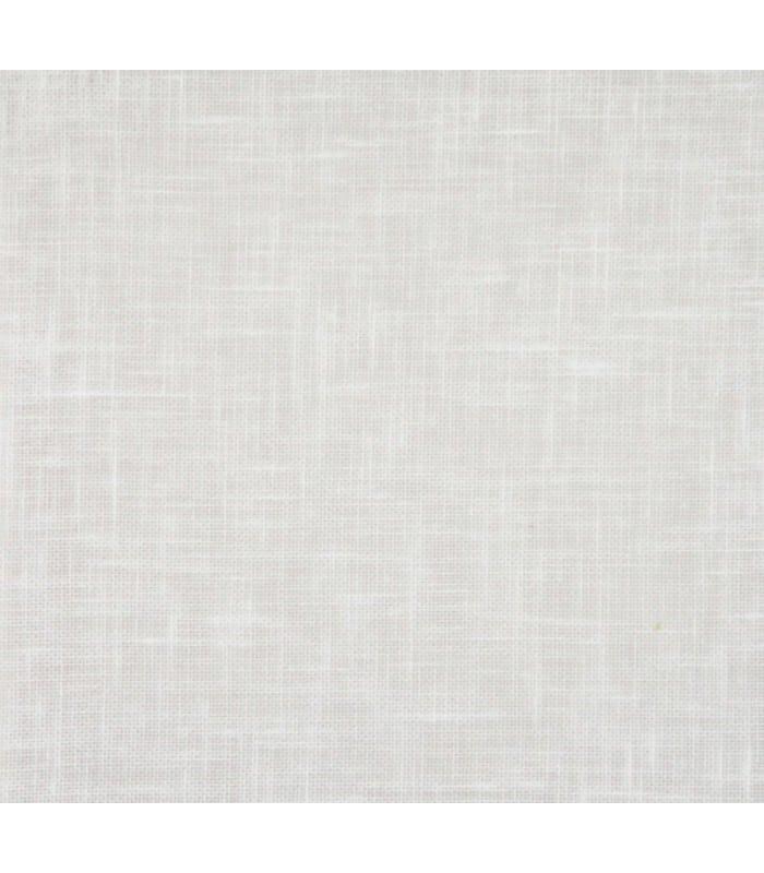 Store en pointe à baguette en voilage aspect lin - Blanc