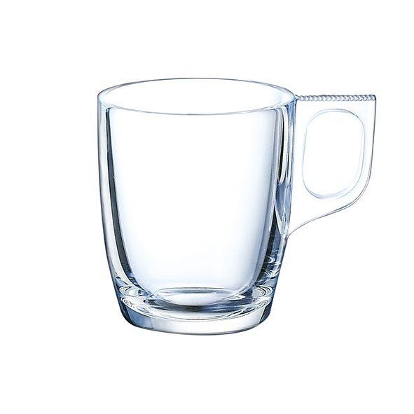 Arcoroc Tasse expresso en verre transparent à anse 9cl - Lot de 6 - Voluto - Arcoroc