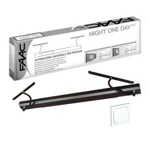 FAAC Kit Motorisation volets battants FAAC Night One Day Basic Marron (filaire)