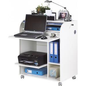 Simmob Bureau Informatique Blanc à Roulettes
