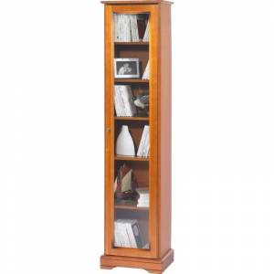 Beaux Meubles Pas Chers Bibliothèque Merisier 1 Porte Vitrée