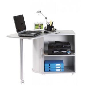 Simmob Bureau Informatique Alu Table Pivotante et Rangement