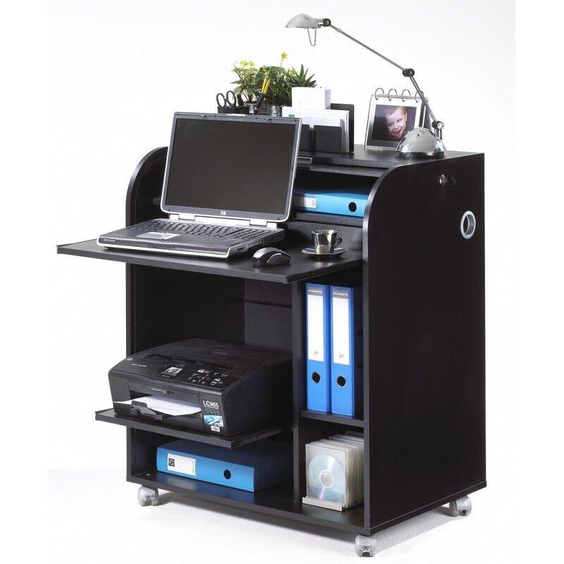 Simmob Bureau Informatique Noir à Roulettes